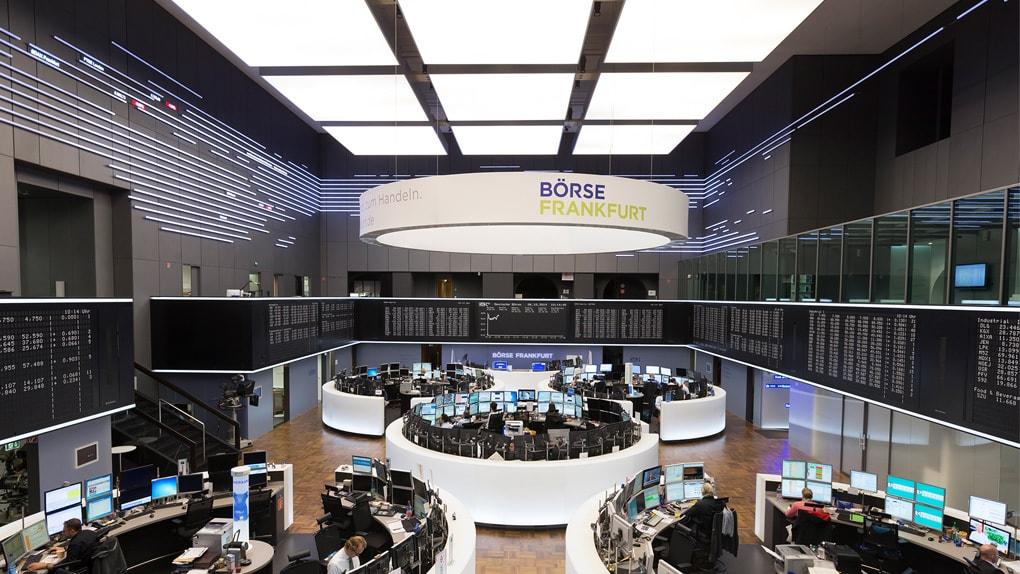 Innenraum der Frankfurter Börse