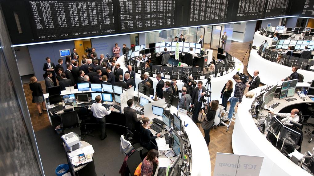 Blick in die Börse Frankfurt