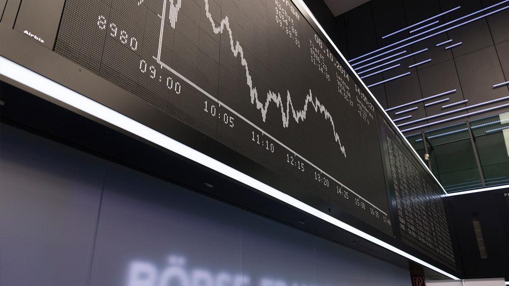 Börse Frankfurt - die DAX-Tafel