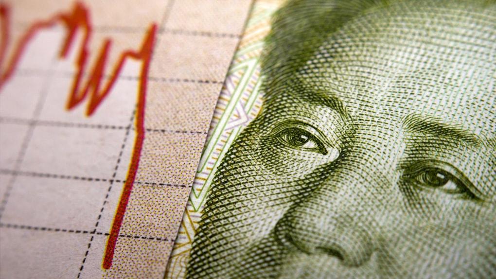 Chinesische Währung uns Kurssturz