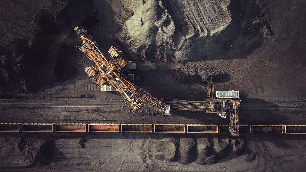 Kohleförderung im Tagebau