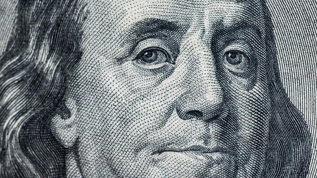 Benjamin Franklin auf der 100-Dollar-Note