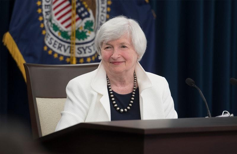 Von 2013 bis 2018 ist Janet Yellen Präsidentin der FED