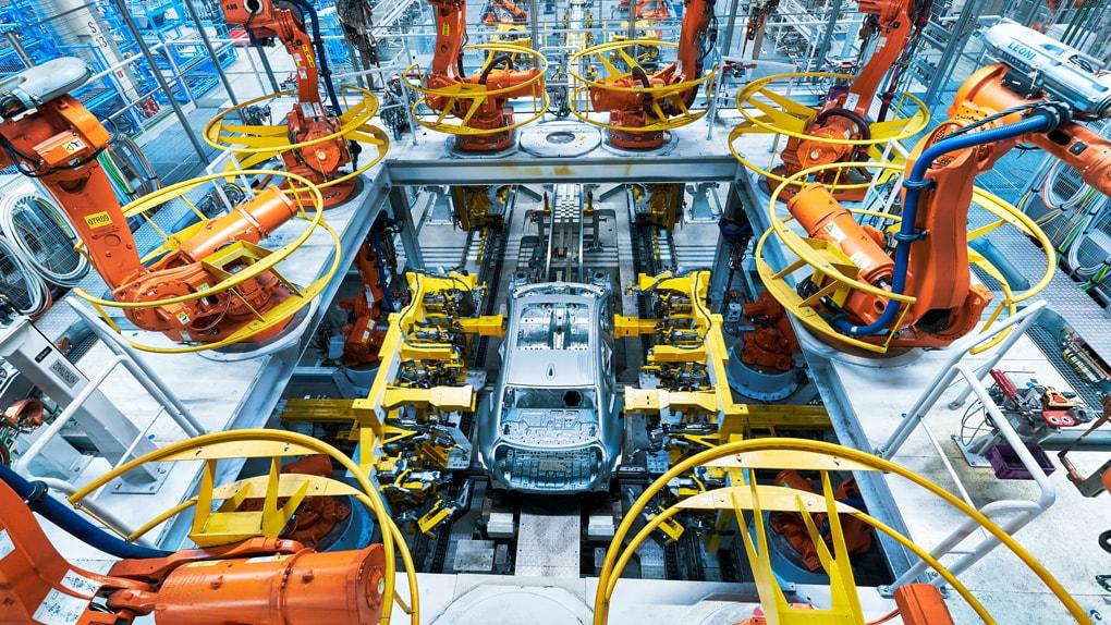 Ein neuer BMW wird produziert