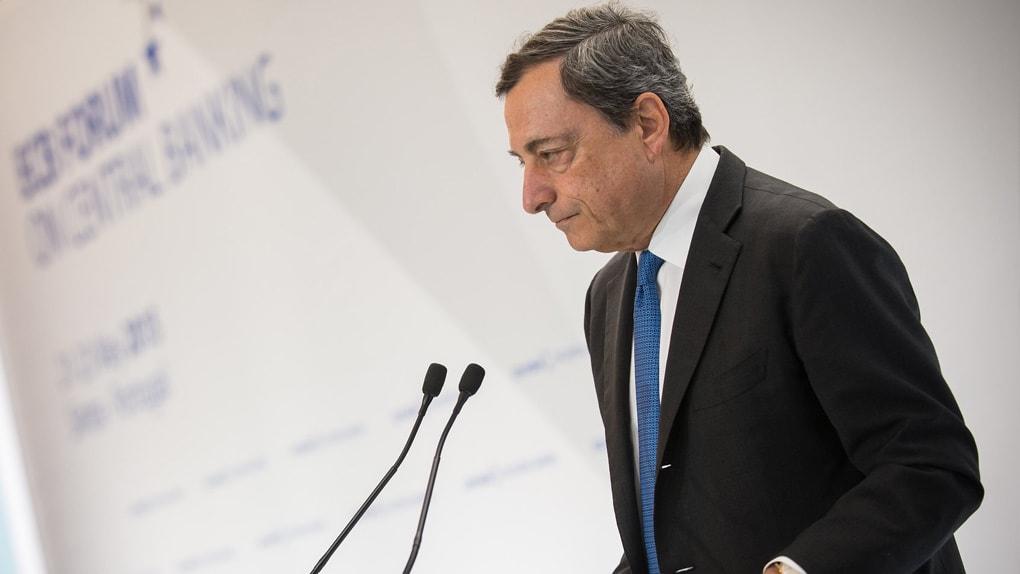 Mario Draghi bei einem EZB-Forum