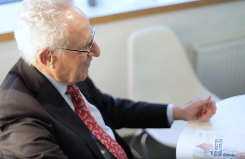 Gottfried Heller in der Focus Redaktion