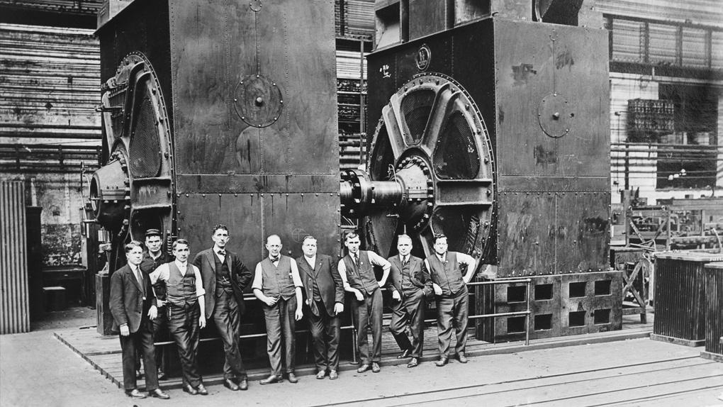 Die Firmenchefs einer Fabrik in den 1920er jahren